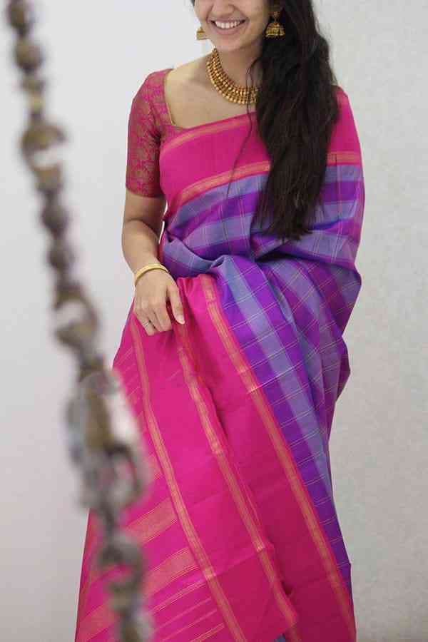 Alluring Multi Colored Soft Silk Party Wear Saree