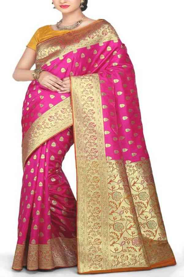 Deserving Pink Colored Traditional Soft Silk Festive Wear Saree - CD288