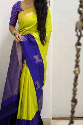 Charming Green Color Soft Silk Designer Sarees - SB1017