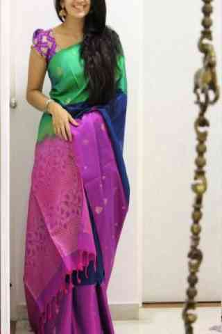 Divine Multi Color Soft Silk Designer Sarees - SB1028