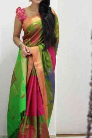 Exquisite Multi Color Soft Silk Designer Sarees - SB1031