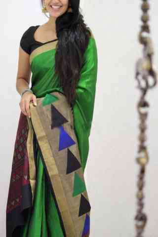 Refreshing Green Color Soft Silk Designer Sarees - SB1034
