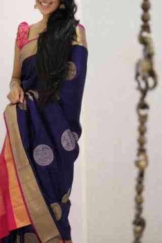 Admirable Blue Color Soft Silk Designer Sarees - SB1047  30""