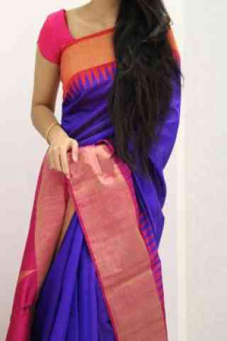 Exclusive Purple And Pink  Color Soft Silk Designer Sarees - SB1061