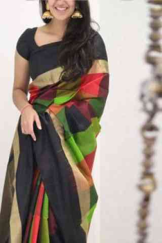 Classic Multi Color Soft Silk Saree - SB1083  30""