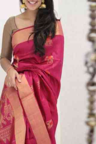 Latest Pink Color Soft Silk Saree - SB1086  30""