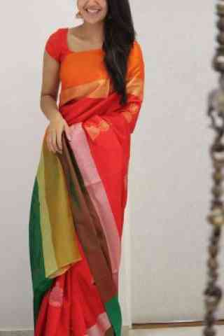 Classic Multi Color Soft Silk Saree - SB1090  30""