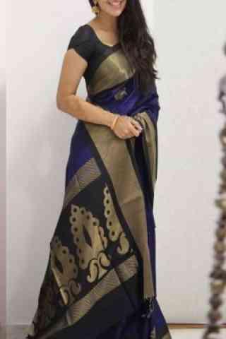 "Fashionable Multi Color Soft Silk Designer Wear Saree - SB1102  30"""