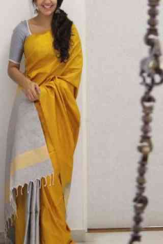 Fashionable Yellow Color Soft Silk Designer Wear Saree - SB1106