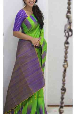 Blooming Green Color Soft Silk Saree - SB1118