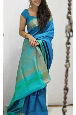 Admirable  Blue Color Soft Silk Designer Sarees - SB1137  30""