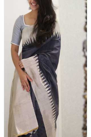 Refreshing Grey Color Soft Silk Designer Sarees - SB1139