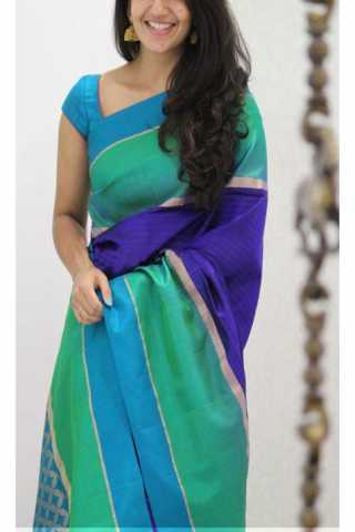 Unique Multi Color Soft Silk Saree - SB1146