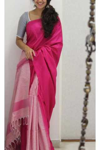 Unique Pink Color Soft Silk Saree - SB1166