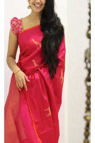 Unique Pink Color Soft Silk Saree - SB1172