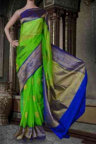 Glorious Green Soft Silk Saree - SB587  30""