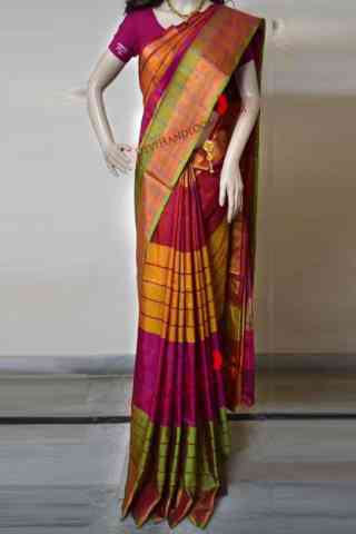 Magnificant Multi Color Soft Silk Saree - SB598  30""