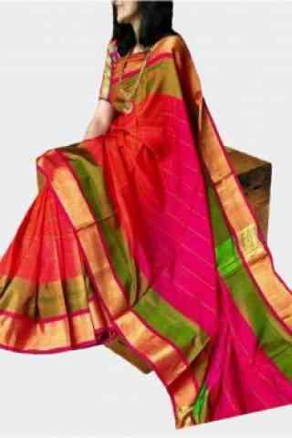 """Graceful Pink Color Soft Silk Designer Sarees - SB622  30"""""""