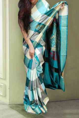 Ethnic Multi Color Soft Silk Designer Sarees-SB630  30""