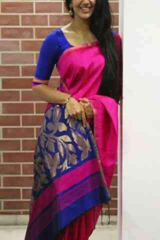 Glorious Pink Color Soft Silk Designer Sarees - SB672
