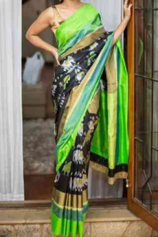 Elegance Multi Color Soft Silk Designer Sarees-SB689