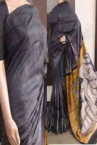 Delightful Grey Color Soft Silk Saree - SB732