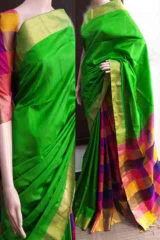 Elegance Green Color Soft Silk Saree - SB749