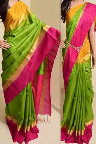 Forever Multi Color Soft Silk Saree - SB758  30""