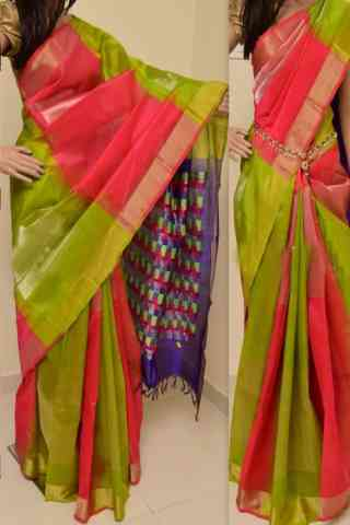 Charming Multi Color Soft Silk Designer Sarees - SB895  30""