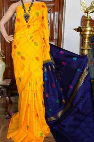 Glorious Yellow Color Soft Silk Designer Sarees - SB904  30""