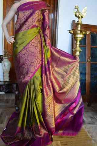 Glorious Green and Pink Color Soft Silk Designer Sarees - SB905