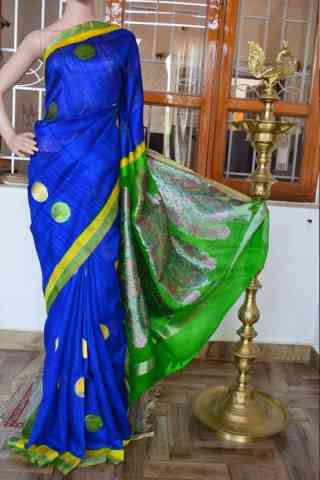Graceful Blue Color Soft Silk Designer Sarees - SB911