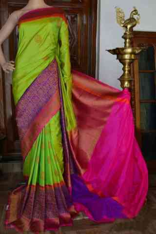 Graceful Multi Color Soft Silk Designer Sarees - SB912