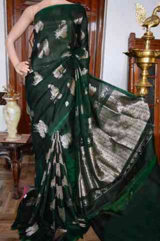 Innovative Green Color Soft Silk Designer Sarees - SB931