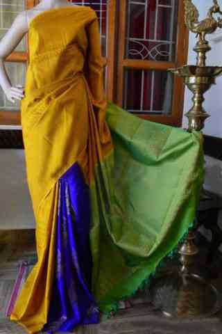 Fashionista Yellow Color Soft Silk Designer Sarees - SB937  30""