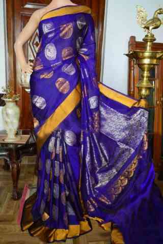 Fashionista blue Color Soft Silk Designer Sarees - SB938  30""