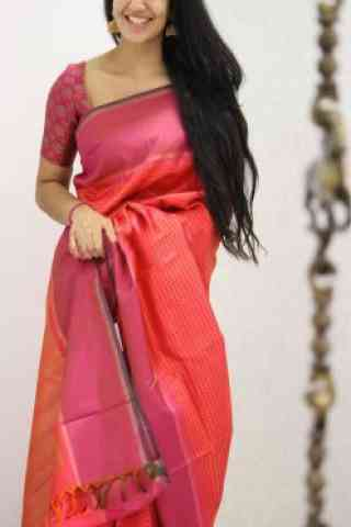 Attractive Pink Color Soft Silk Designer Sarees - SB968  30""