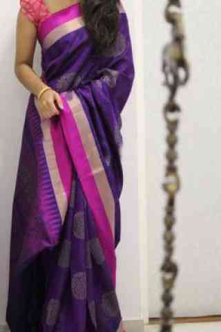 Graceful Multi Color Soft Silk Designer Sarees - SB985  30""