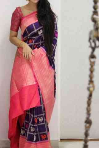 Modish Purple Color Soft Silk Designer Sarees - SB996