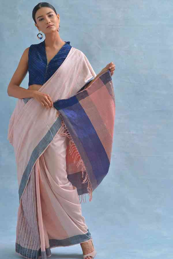 Heart-Stealing Vibrant Soft Silk White-Pink Shaded Saree