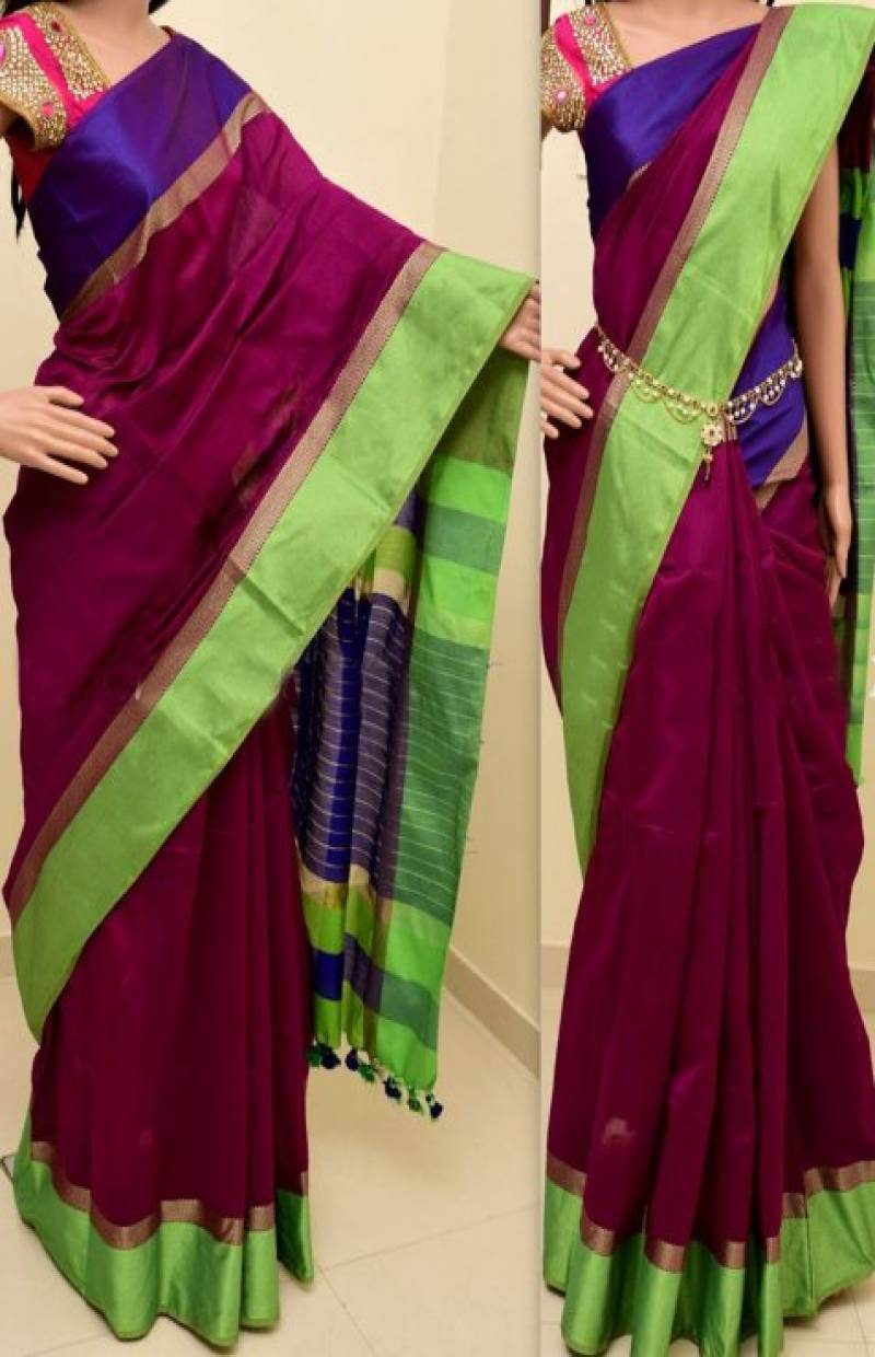 Artistic  Multi Color Soft Silk Saree - SB797