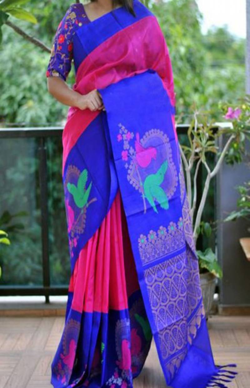 Sensational Pink Color Soft Silk Saree - SB872