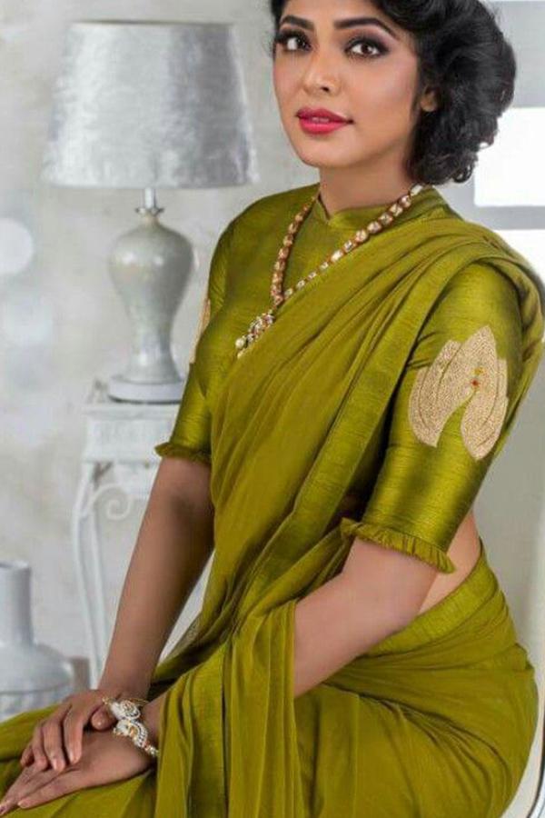 Dashing Green Colored Soft Silk Saree - CD109