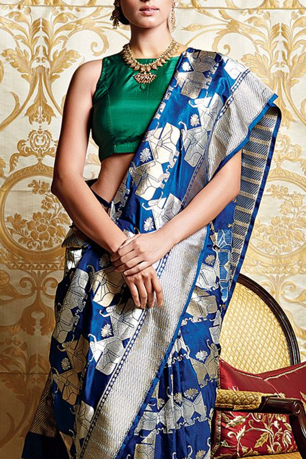 Exclusive Designer Blue Soft Silk Saree