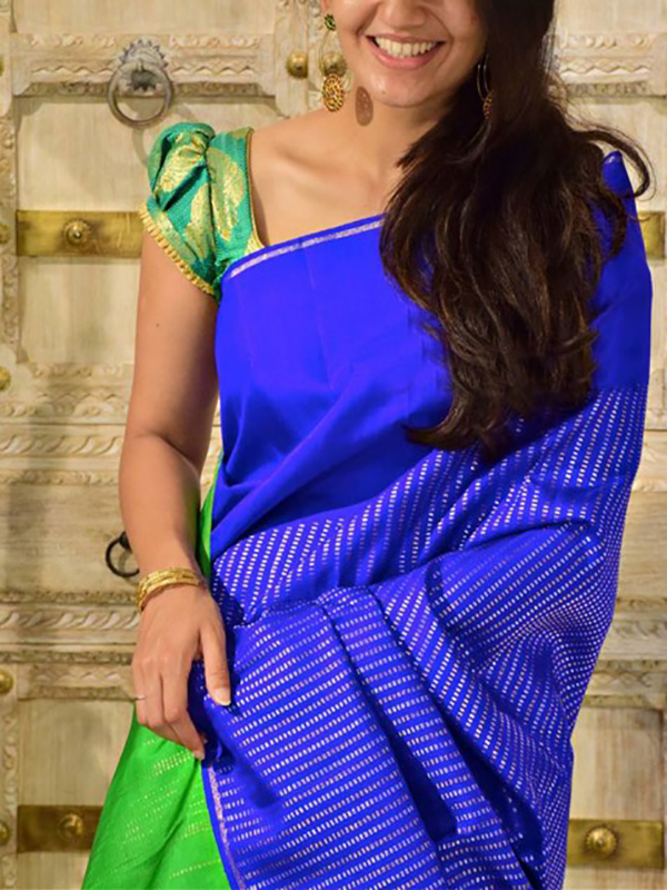 Modish Blue Color Soft Silk Designer Sarees - SB1315