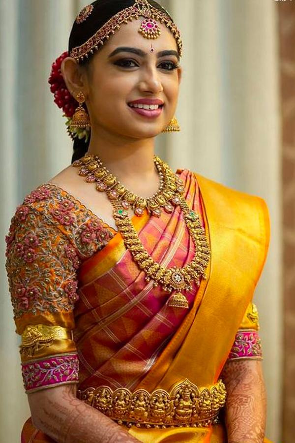 Surpassing Pink - Yellow Border Chennai Silk Festive Saree  - CS61
