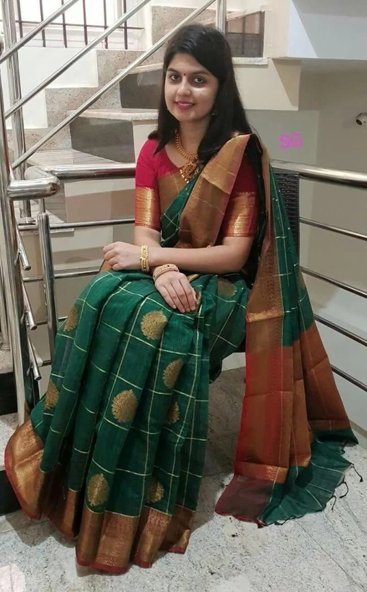 Silk  Green Color Designer Saree   - SB2015