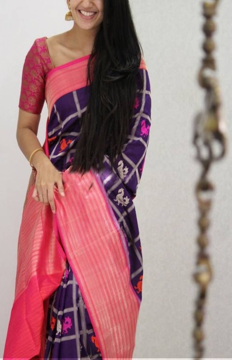 Flawless Pink Color Soft Silk Designer Sarees - SB1056