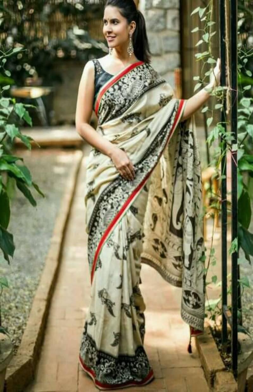 Royal White Color Soft Silk Designer Sarees-SB631