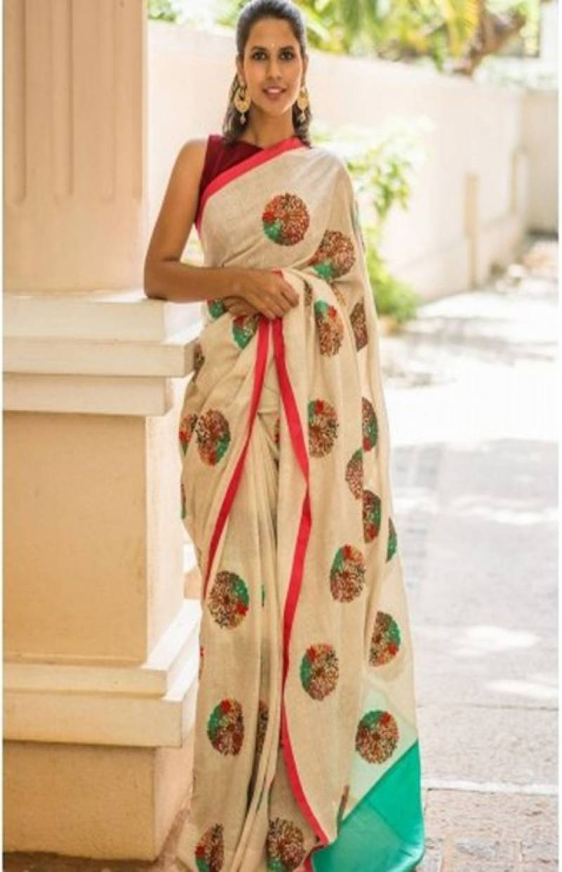Amazing White Color Soft Silk Designer Sarees - SB660